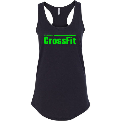 G-Theory CrossFit - 100 - Stacked Green - Next Level - Women's Ideal Racerback Tank