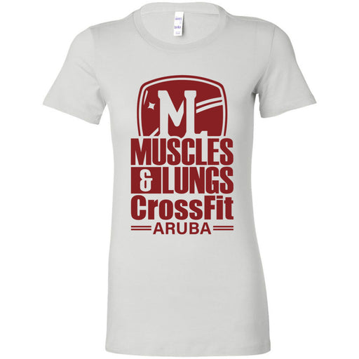 Muscles & Lungs CrossFit - 100 - Maroon - Bella + Canvas - Women's The Favorite Tee