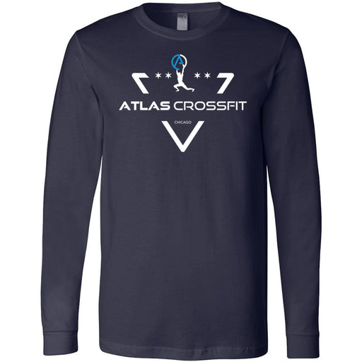 Atlas CrossFit - 100 - Crest - Bella + Canvas 3501 - Men's Long Sleeve Jersey Tee