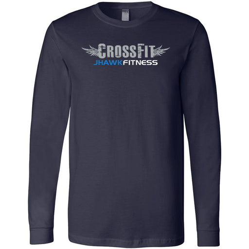 CrossFit Jhawkfitness - 100 - Standard - Bella + Canvas 3501 - Men's Long Sleeve Jersey Tee