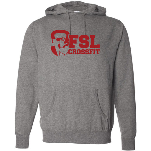 FSL CrossFit - 100 - Red - Independent - Hooded Pullover Sweatshirt