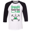 CrossFit Dunbar Cave Lab - 100 - Standard - Bella + Canvas - Men's Three-Quarter Sleeve Baseball T-Shirt