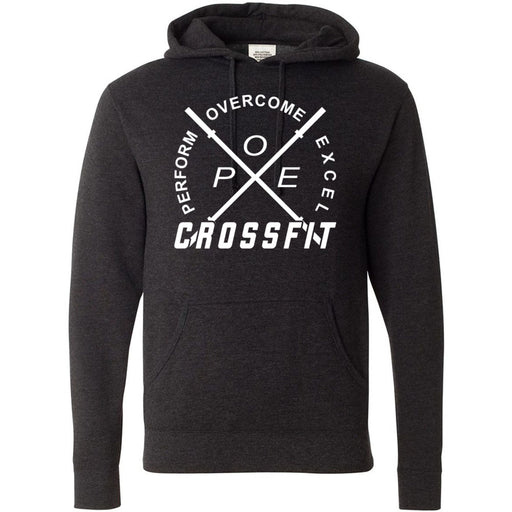 Perform Overcome Excel CrossFit - 100 - White - Independent - Hooded Pullover Sweatshirt