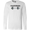 CrossFit Hillsdale - 100 - Barbell - Bella + Canvas 3501 - Men's Long Sleeve Jersey Tee