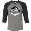 5280 CrossFit - 100 - Standard - Bella + Canvas - Men's Three-Quarter Sleeve Baseball T-Shirt