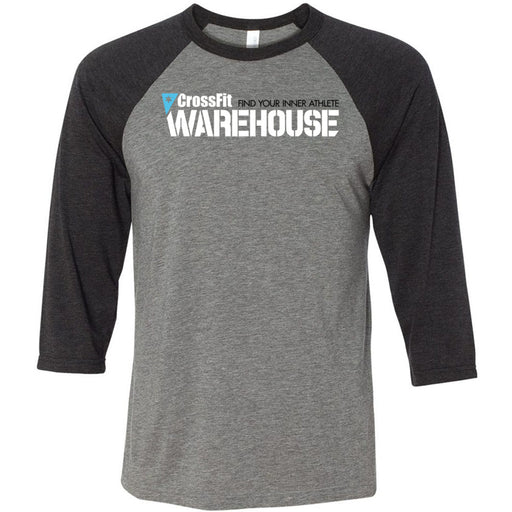 CrossFit Warehouse - 100 - Standard - Bella + Canvas - Men's Three-Quarter Sleeve Baseball T-Shirt