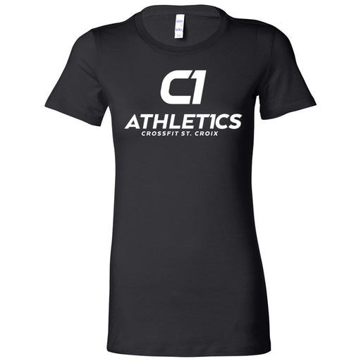 CrossFit St. Croix - 100 - Stacked White - Bella + Canvas - Women's The Favorite Tee