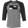 Classified CrossFit - 100 - Standard - Bella + Canvas - Men's Three-Quarter Sleeve Baseball T-Shirt