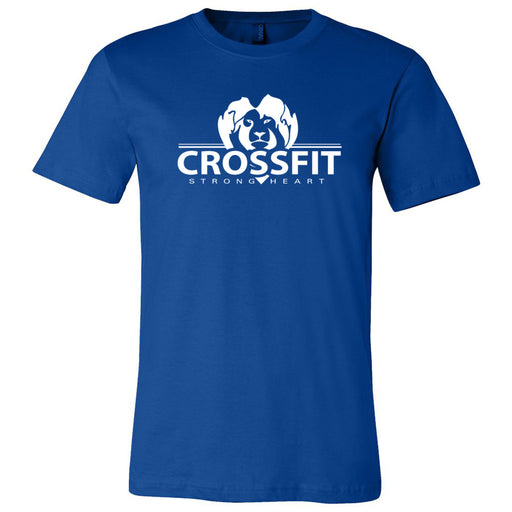 CrossFit Strong Heart - 100 - One Color - Bella + Canvas - Men's Short Sleeve Jersey Tee