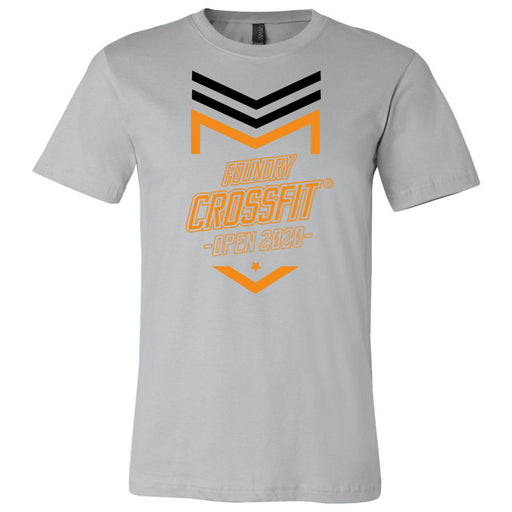 Foundry CrossFit - 100 - 2020 Open Orange - Bella + Canvas - Men's Short Sleeve Jersey Tee