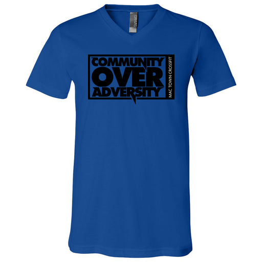 Mac Town CrossFit - 100 - Community - Bella + Canvas - Men's Short Sleeve V-Neck Jersey Tee
