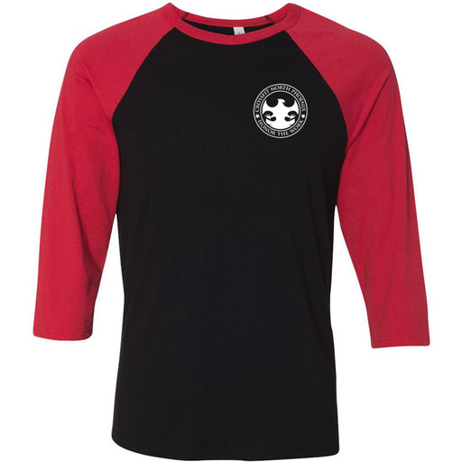 CrossFit North Phoenix - 202 - Don't Sit - Bella + Canvas - Men's Three-Quarter Sleeve Baseball T-Shirt