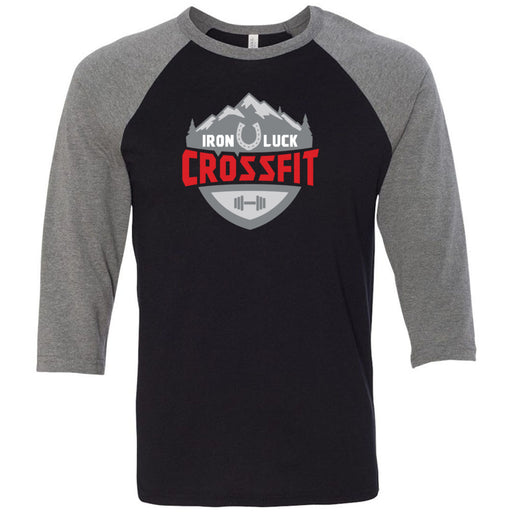 Iron Luck CrossFit - 100 - Standard - Bella + Canvas - Men's Three-Quarter Sleeve Baseball T-Shirt
