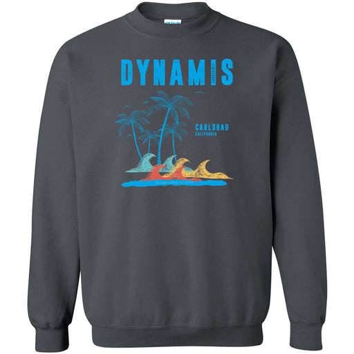 Dynamis CrossFit - 100 - Palm Tree Blue - Gildan - Heavy Blend Crewneck Sweatshirt
