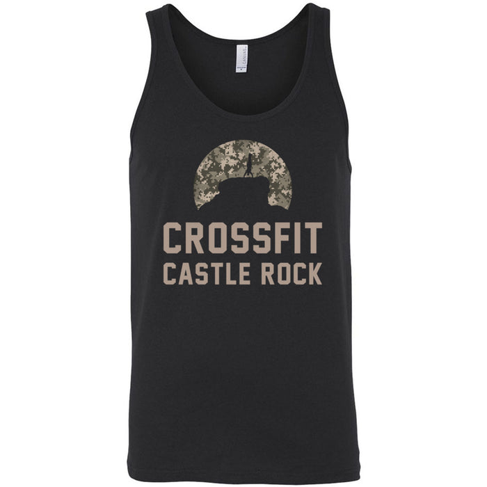 CrossFit Castle Rock - 100 - Camo - Bella + Canvas - Men's Jersey Tank