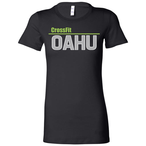 CrossFit Oahu - 200 - Fittest White Green - Bella + Canvas - Women's The Favorite Tee
