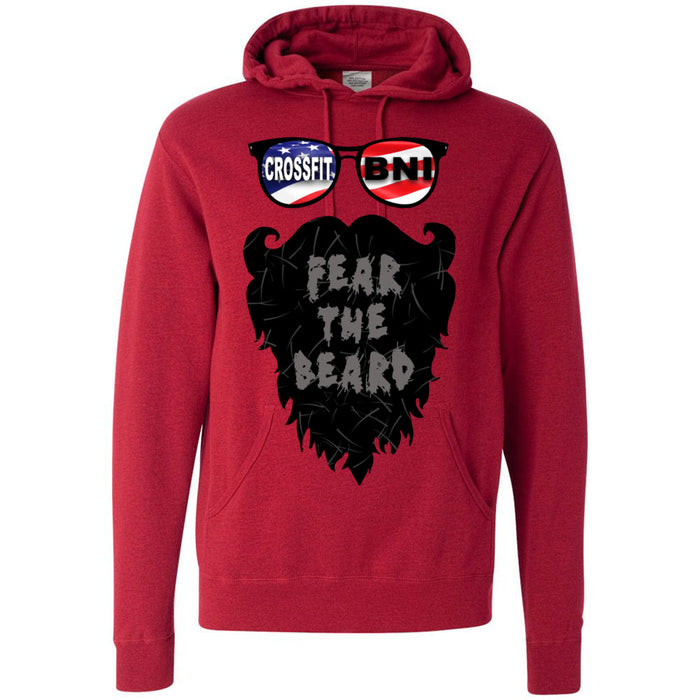 CrossFit BNI - 100 - Fear The Beard - Independent - Hooded Pullover Sweatshirt