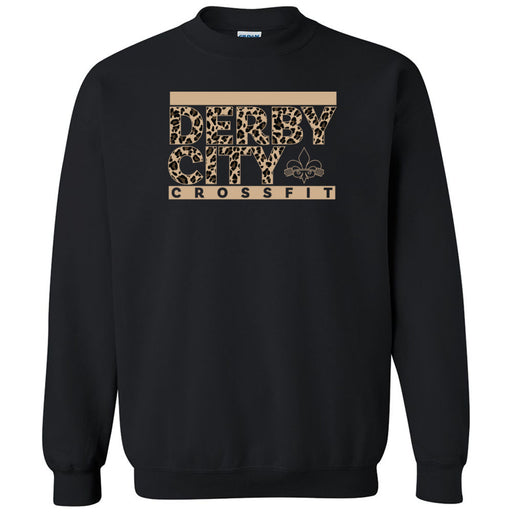 Derby City CrossFit - 201 - Leopard - Gildan - Heavy Blend Crewneck Sweatshirt