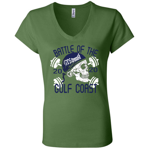 GTS CrossFit - 200 - Battle of the Gulf Coast 2020 - Bella + Canvas - Women's Short Sleeve Jersey V-Neck Tee