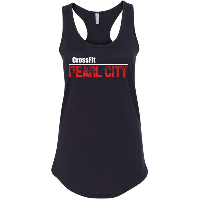 CrossFit Oahu - 100 - Pearl City Red - Next Level - Women's Ideal Racerback Tank