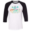 CrossFit Inconceivable - 100 - Tropical - Bella + Canvas - Men's Three-Quarter Sleeve Baseball T-Shirt