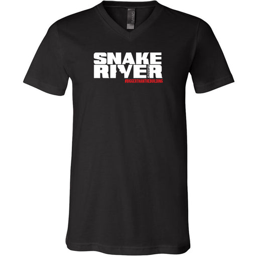 Snake River CrossFit - 200 - Outlaw 2 - Bella + Canvas - Men's Short Sleeve V-Neck Jersey Tee