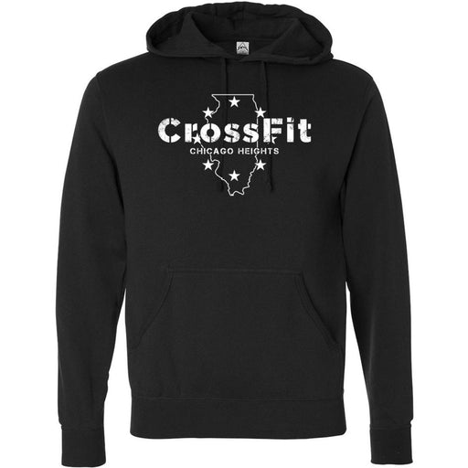 CrossFit Chicago Heights - 100 - Illinois - Independent - Hooded Pullover Sweatshirt