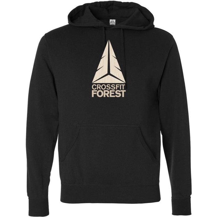 CrossFit Forest - 100 - Wood Grain Pale - Independent - Hooded Pullover Sweatshirt