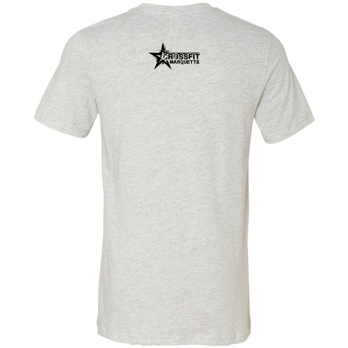 CrossFit Marquette - 200 - Barbells & Boos - Bella + Canvas - Men's Short Sleeve Jersey Tee
