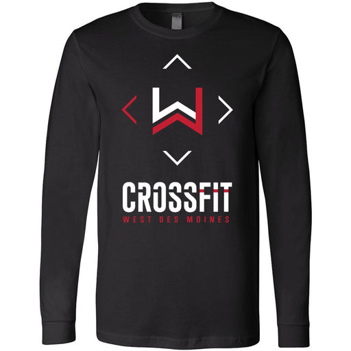 CrossFit West Des Moines - 100 - Stacked - Bella + Canvas 3501 - Men's Long Sleeve Jersey Tee