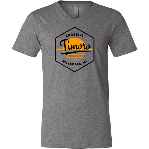 CrossFit Timoro - 100 - AA2 Paradise - Bella + Canvas - Men's Short Sleeve V-Neck Jersey Tee