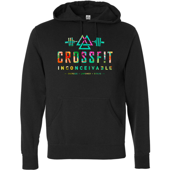 CrossFit Inconceivable - 100 - Tropical - Independent - Hooded Pullover Sweatshirt