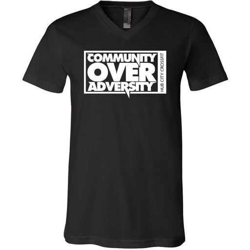 Hub City CrossFit - 100 - Community - Bella + Canvas - Men's Short Sleeve V-Neck Jersey Tee