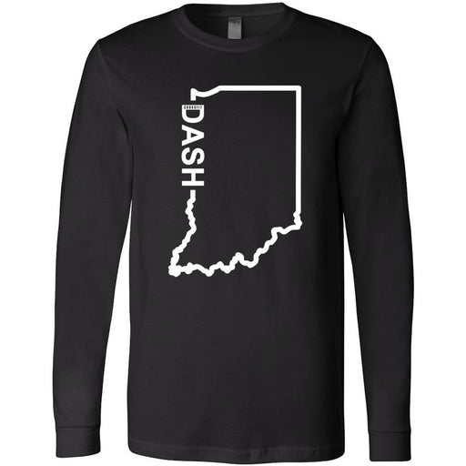 CrossFit Dash - 100 - Indiana Dash - Bella + Canvas 3501 - Men's Long Sleeve Jersey Tee