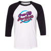 CrossFit Due North - 100 - 80s - Bella + Canvas - Men's Three-Quarter Sleeve Baseball T-Shirt