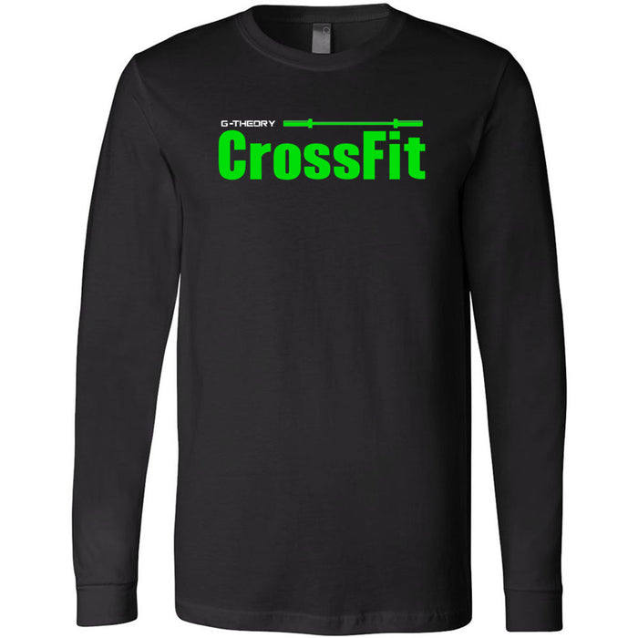 G-Theory CrossFit - 100 - Stacked - Bella + Canvas 3501 - Men's Long Sleeve Jersey Tee