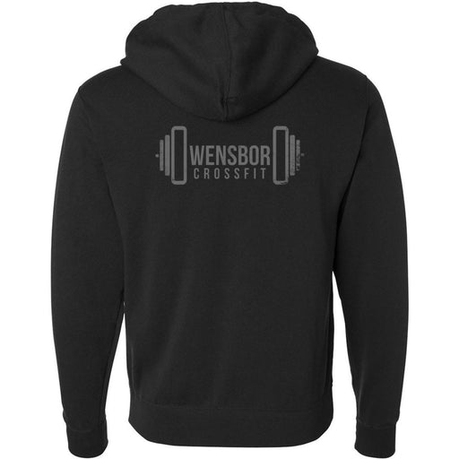 Owensboro CrossFit - 201 - Captain America Gray - Independent - Hooded Pullover Sweatshirt