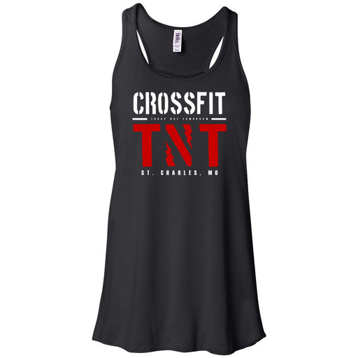 CrossFit TNT - 100 - Red TNT - Bella + Canvas - Women's Flowy Racerback Tank