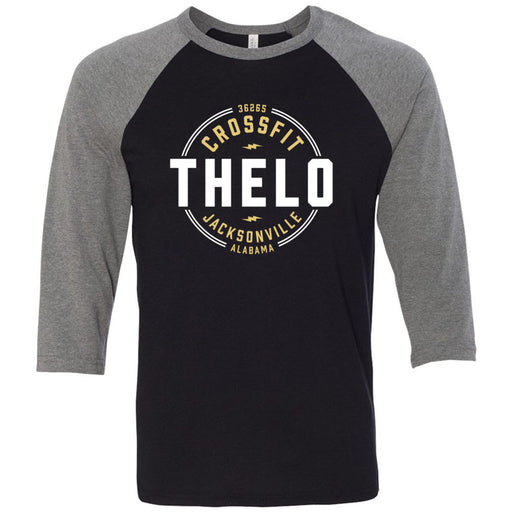 CrossFit Thelo - 100 - Jacksonville - Bella + Canvas - Men's Three-Quarter Sleeve Baseball T-Shirt