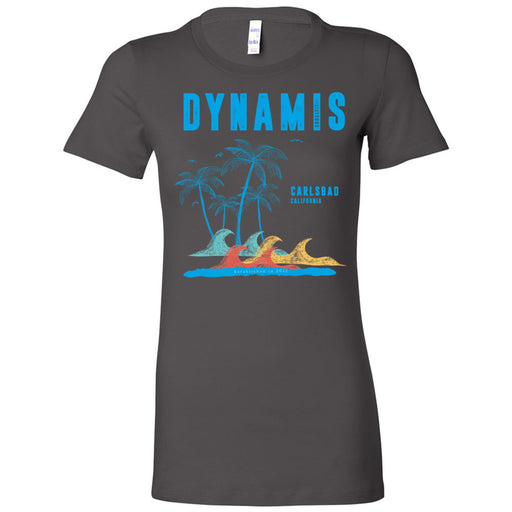 Dynamis CrossFit - 100 - Palm Tree Blue - Bella + Canvas - Women's The Favorite Tee