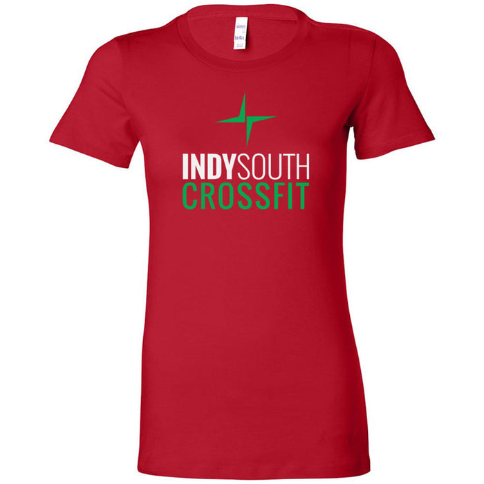 Indy South CrossFit - 100 - Stacked White - Bella + Canvas - Women's The Favorite Tee