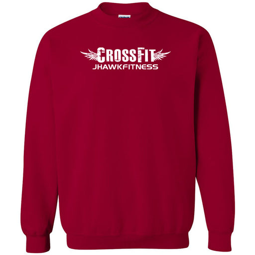 CrossFit Jhawkfitness - 100 - White - Gildan - Heavy Blend Crewneck Sweatshirt