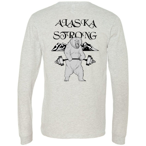 CrossFit North Pole - 202 - Alaska Strong - Bella + Canvas 3501 - Men's Long Sleeve Jersey Tee