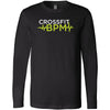 CrossFit BPM - 100 - White Volt - Bella + Canvas 3501 - Men's Long Sleeve Jersey Tee