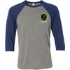 Warriorz CrossFit - 100 - Pocket Size - Bella + Canvas - Men's Three-Quarter Sleeve Baseball T-Shirt