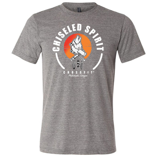 Chiseled Spirit CrossFit - 100 - Stacked - Bella + Canvas - Men's Triblend Short Sleeve Tee