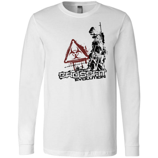 CrossFit Evolution - 100 - Biohazard - Bella + Canvas 3501 - Men's Long Sleeve Jersey Tee