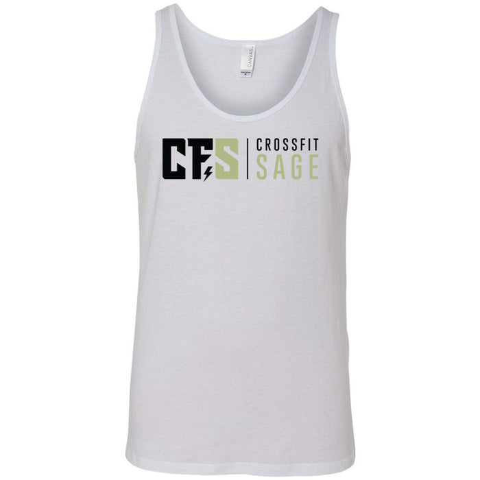 CrossFit Sage - 100 - Stacked - Bella + Canvas - Men's Jersey Tank