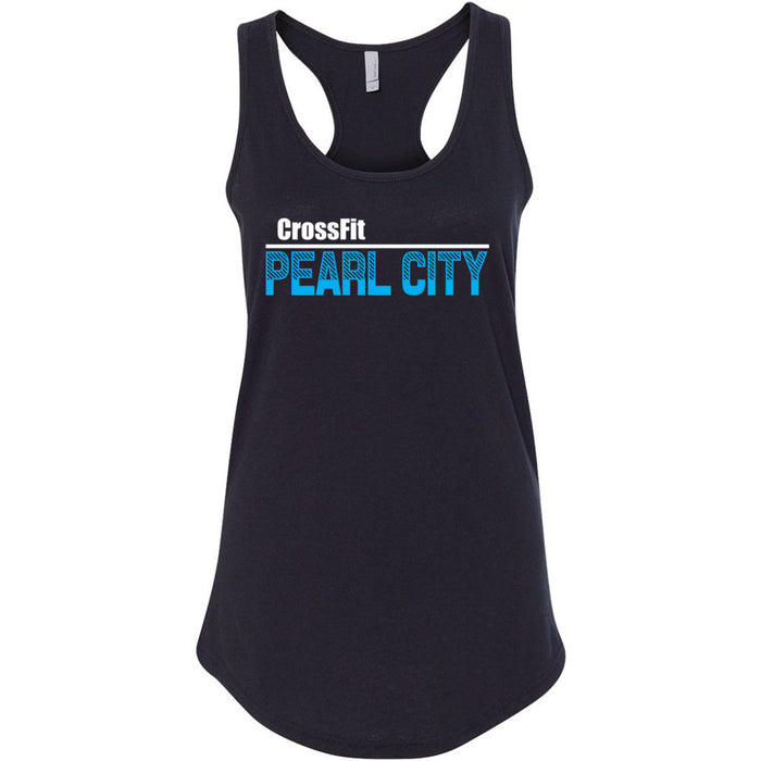 CrossFit Oahu - 100 - Pearl City Blue - Next Level - Women's Ideal Racerback Tank