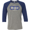 CrossFit Dedication - 100 - Insignia - Bella + Canvas - Men's Three-Quarter Sleeve Baseball T-Shirt